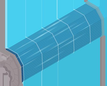 Blauwe verdamper airco